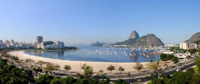 Enseada Botafogo Rio de Janeiro, stranden en suikerberg
