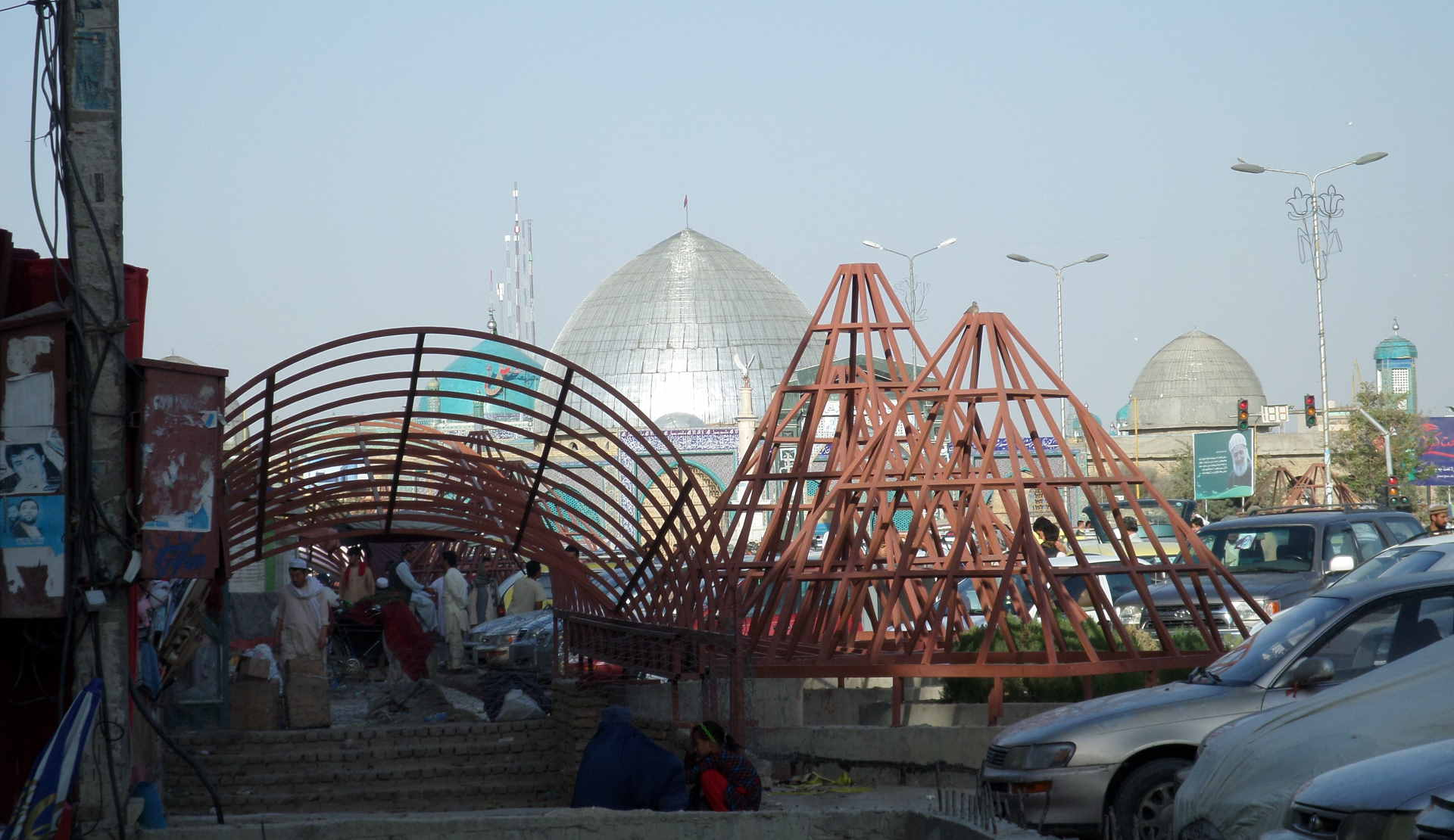 Afbeelding: Afghanistan Mazar-i-Sharif, blauwe moskee