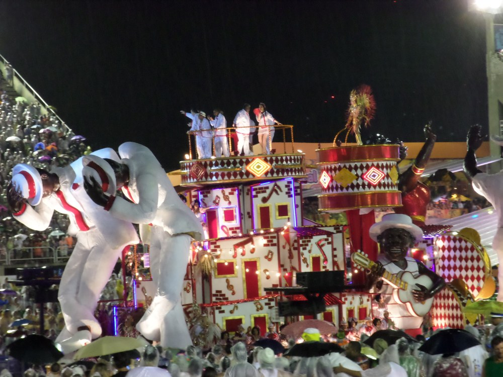 Parade in het Sambadome, carnaval in Rio de Janeiro