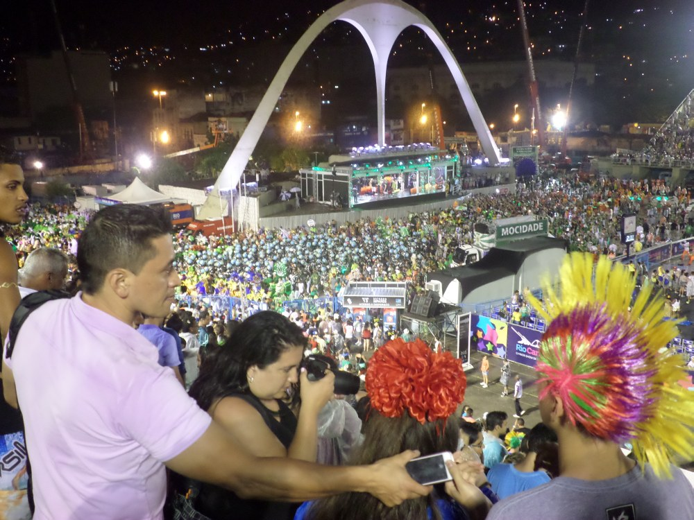 Sambódromo, betonnen M in het sambadrome, carnaval in Rio de Janeiro