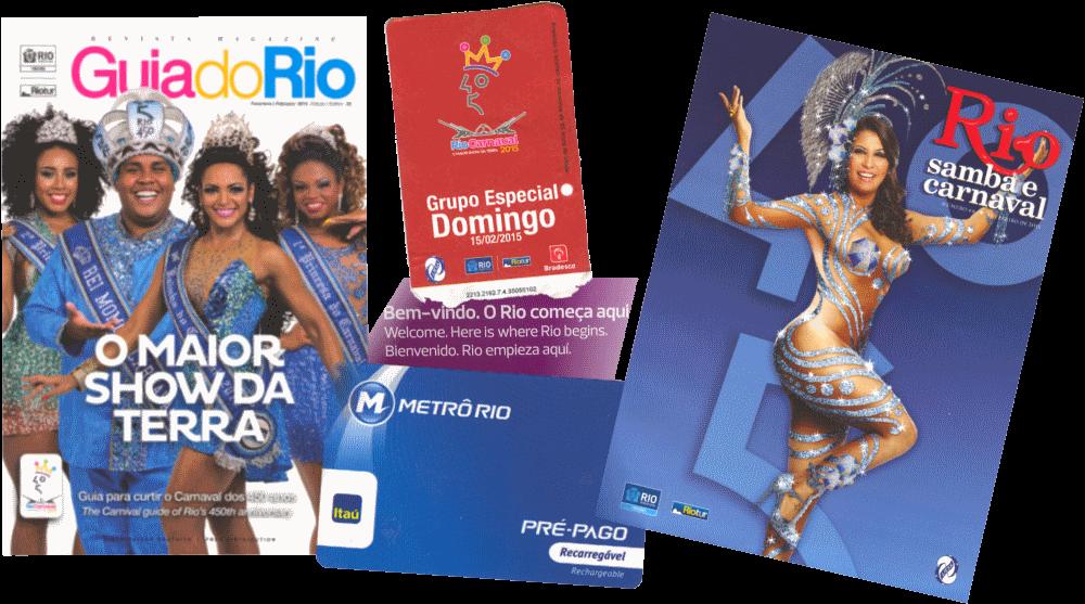 brochures en metrokaart carnaval in rio de janeiro