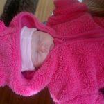Fay, mijn nichtje, is geboren. Hoera!